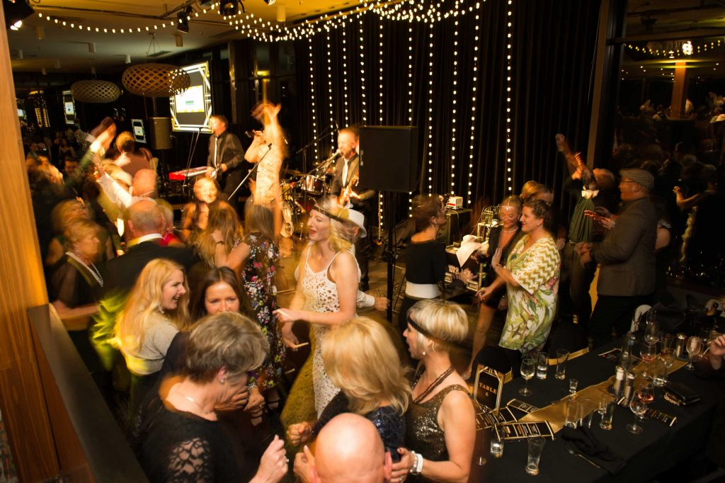 Queenstown Band LA Social packing the dancefloor for a corporate event