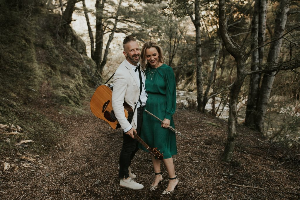 Rustic Wedding Duo Queenstown New Zealand LA Social in Forest