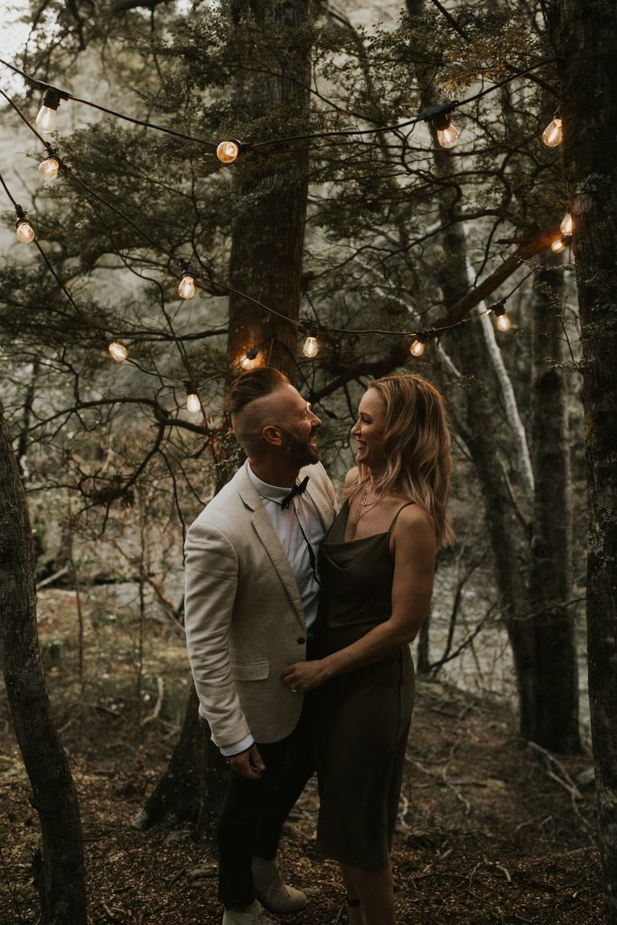 Rustic Wedding Band Duo in the Queenstown Forest